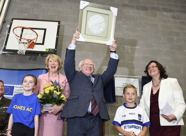 President of Ireland opens Peace Link