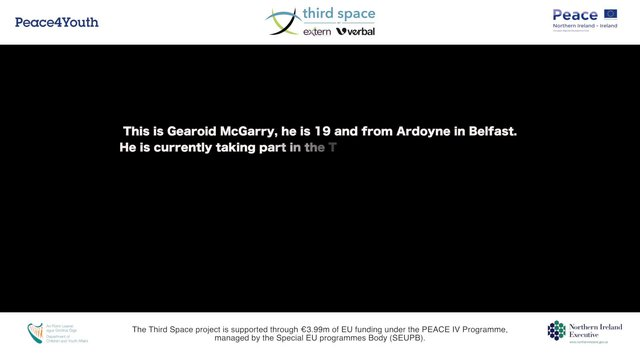 PEACE IV: The Third Space - Gearoid's Story