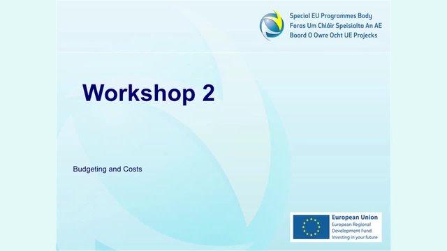 PEACE IV: SEUPB Pre-Application Development Workshop - Session 3